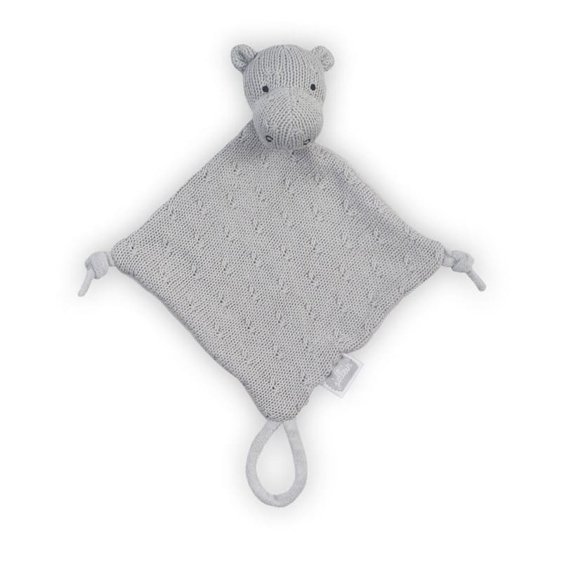 Jollein przytulanka dou dou z zawieszką na smoczek Hippo Grey