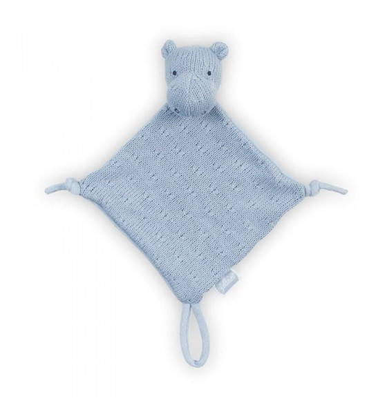 Jollein przytulanka dou dou z zawieszką na smoczek Hippo Blue