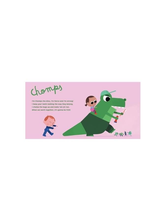 THE BRUSHIES szczoteczka silikonowa Gryzozaur CHOMPS