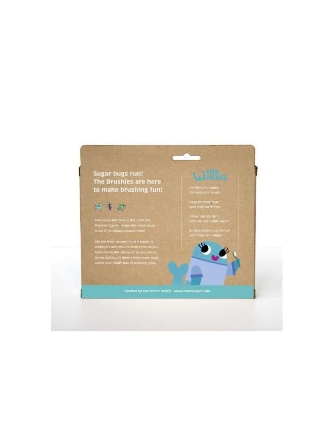THE BRUSHIES szczoteczka silikonowa Wielorybica WILLA z książeczką PL