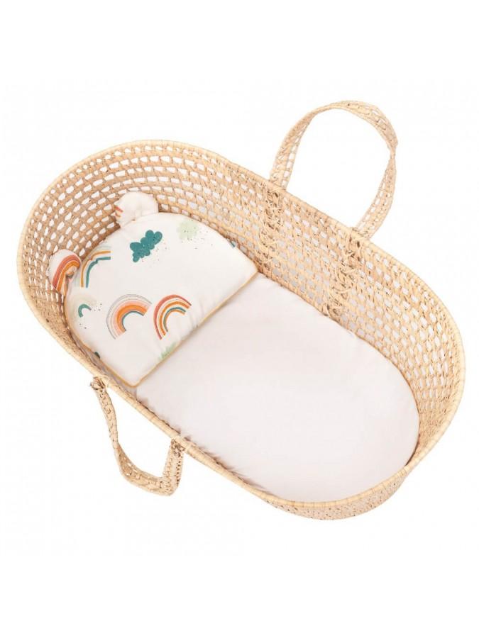 Samiboo bambusowa poduszka z uszami Tęcza