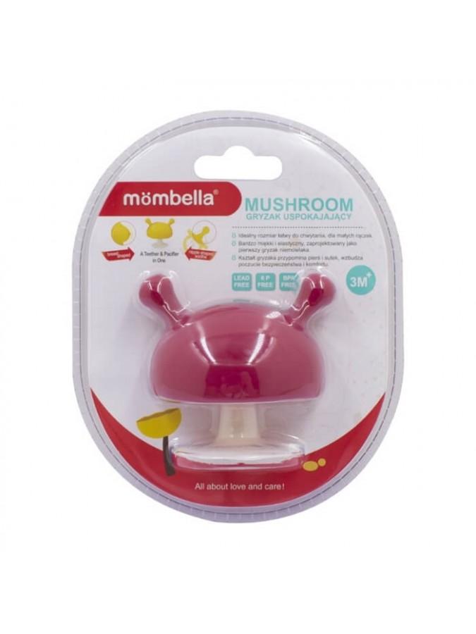 Mombella gryzak uspokajający grzybek Mushroom Chimney Red