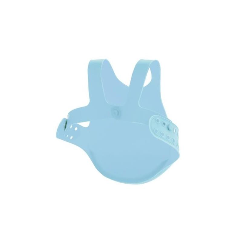 MINIKOIOI śliniak silikonowy z kieszonką niebieski