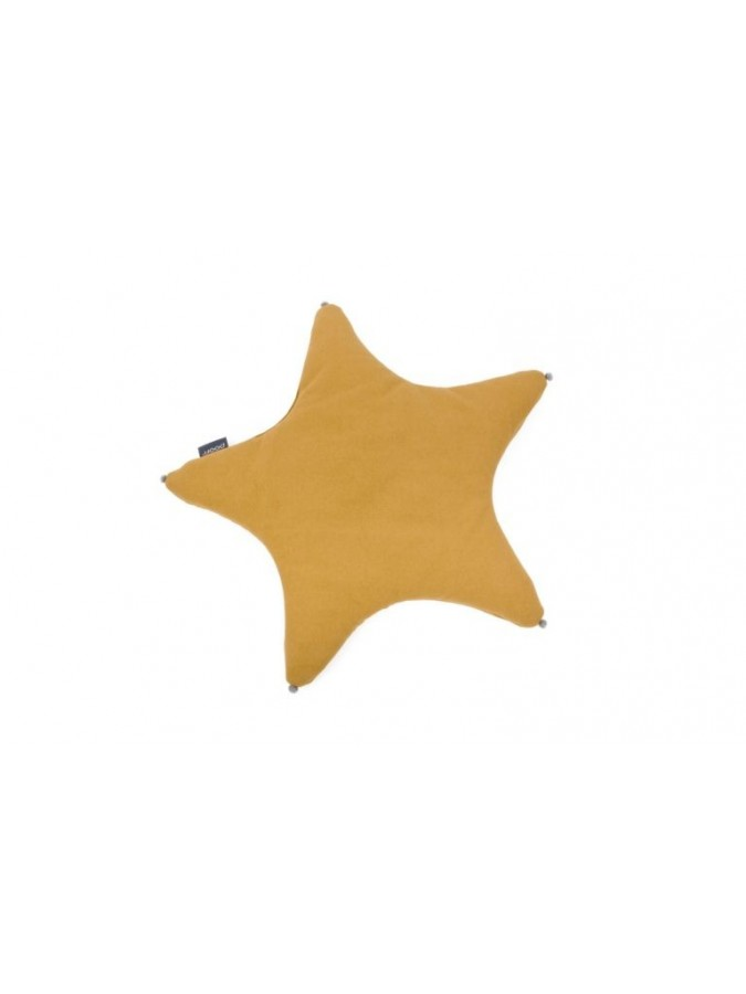 Poofi poduszka gwiazdka musztardowy
