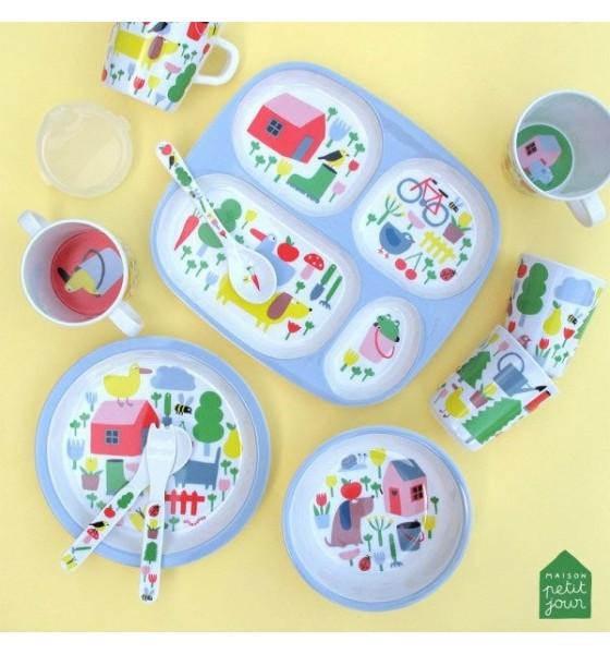 Maison Petit Jour miseczka dla dzieci z melaminy 250 ml Wiejska Sielanka