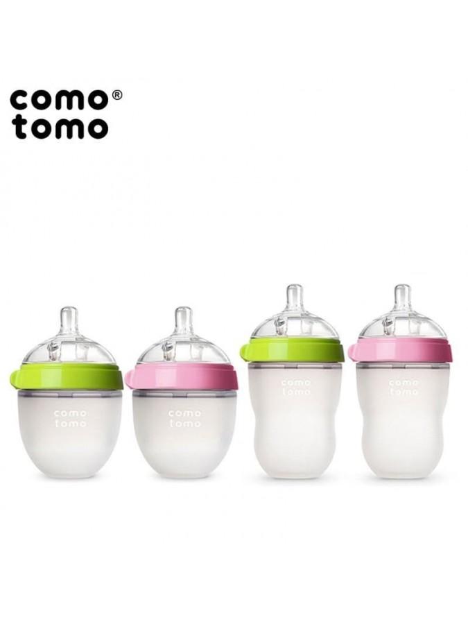 Comotomo antykolkowa butelka silikonowa Moms Breast 250 ml Pink Baby