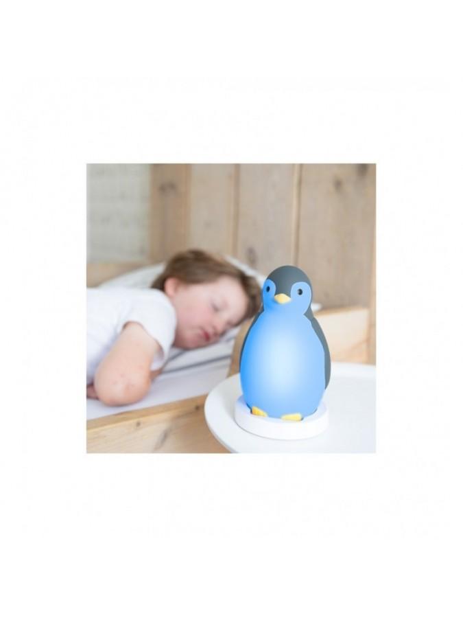 ZAZU Pam trener snu pingwin blue