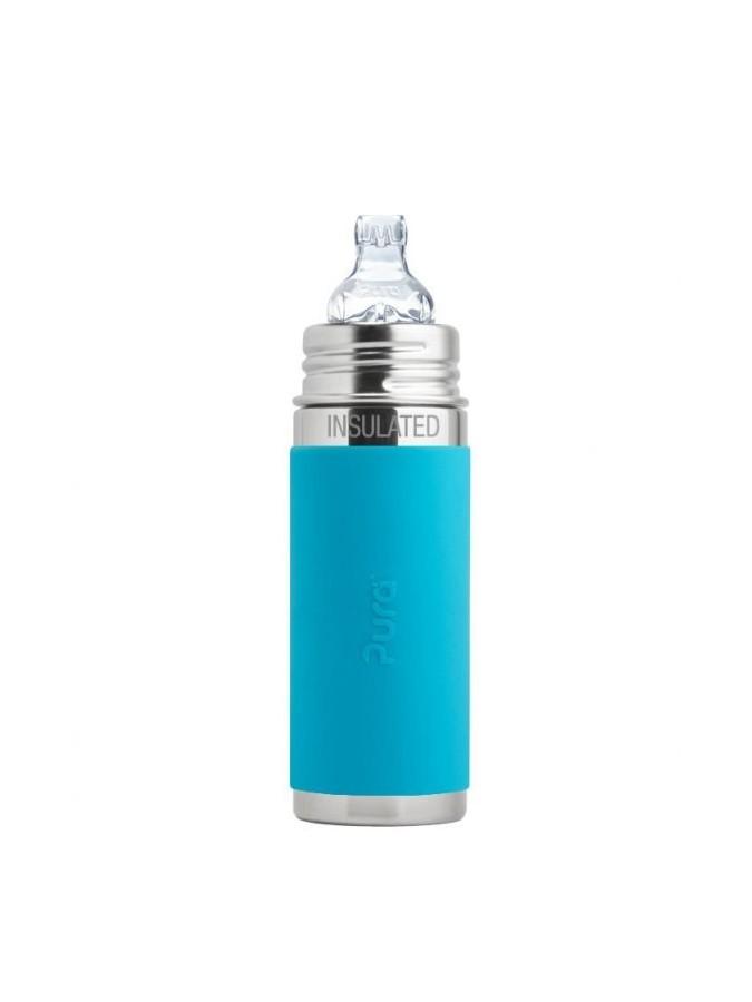 Pura termobutelka z ustnikiem niekapkiem 260 ml niebieska