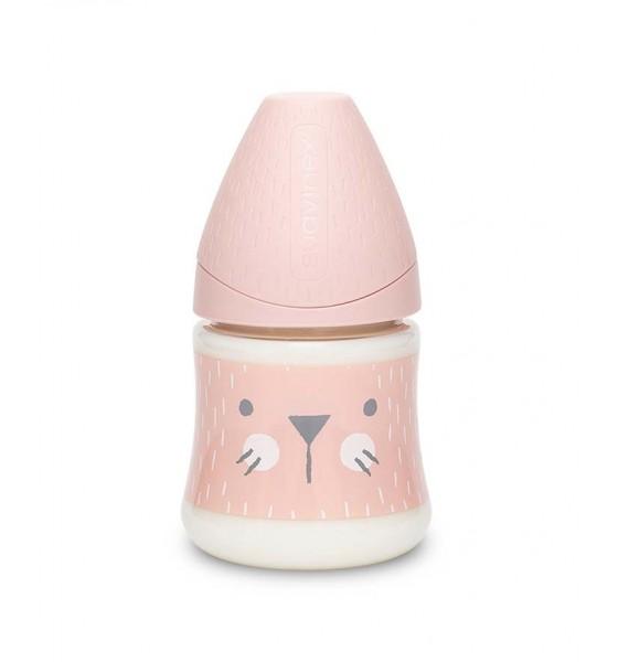 Suavinex butelka Hygge Baby 150 ml kotek różowy