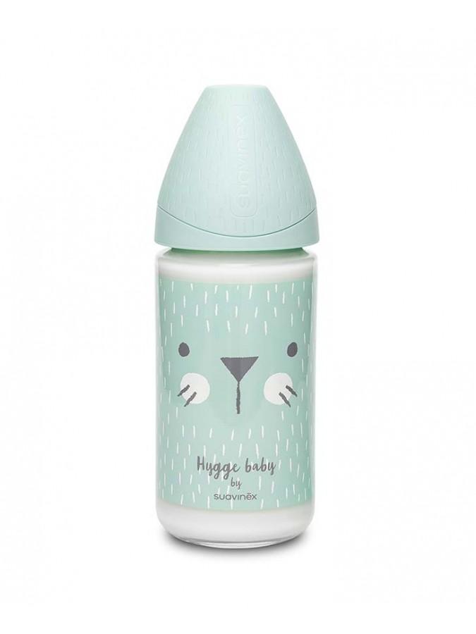Suavinex butelka szklana Hygge Baby 240 ml kotek miętowy