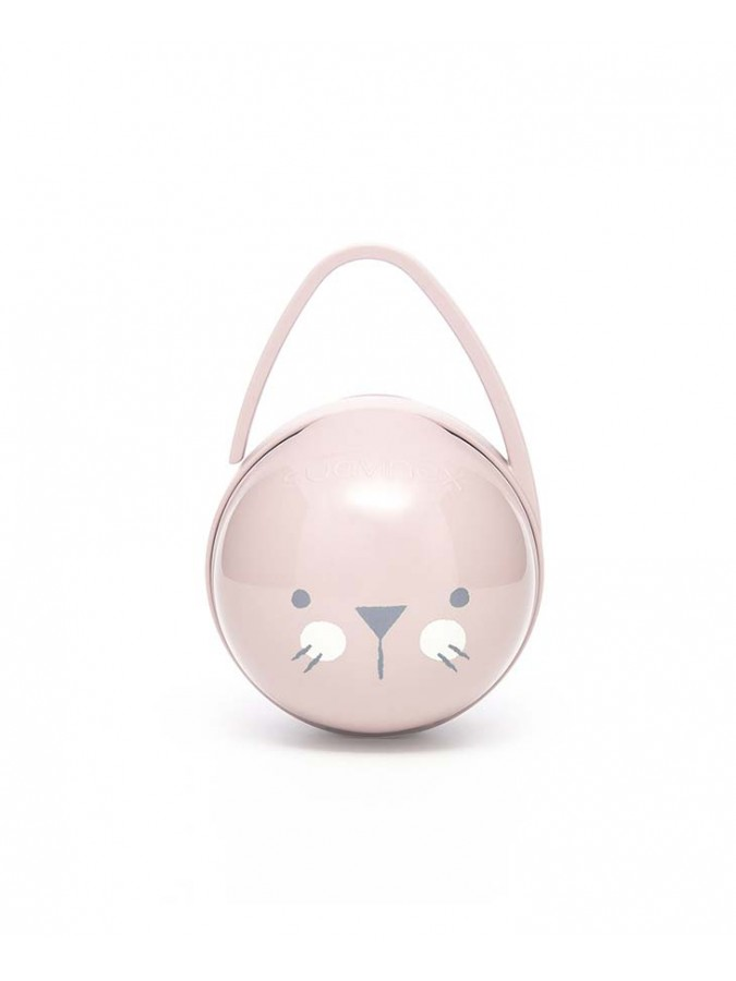 Suavinex podwójne etui na smoczki Hygge Baby kotek różowy
