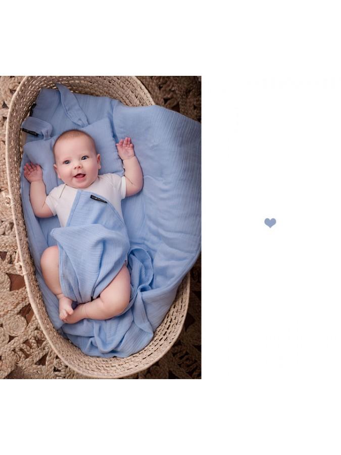 Lullalove poduszka królik blue