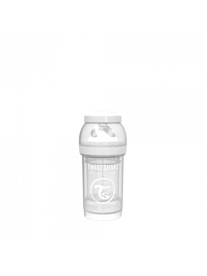 Twistshake butelka antykolkowa do karmienia 180 ml biała
