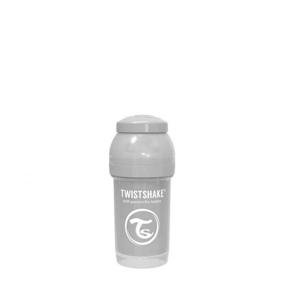Twistshake butelka antykolkowa do karmienia 180 ml szara