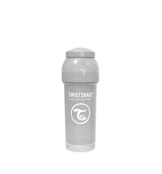 Twistshake butelka antykolkowa do karmienia 260 ml szara