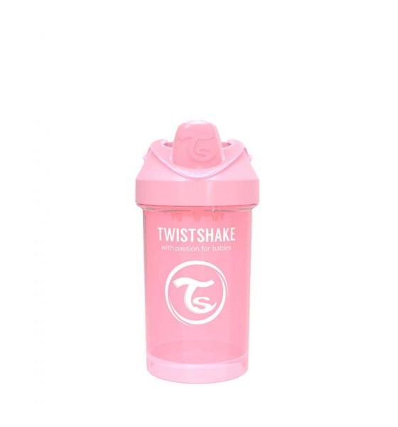 Twistshake kubek niekapek z mikserem do owoców 300 ml pastelowy różowy