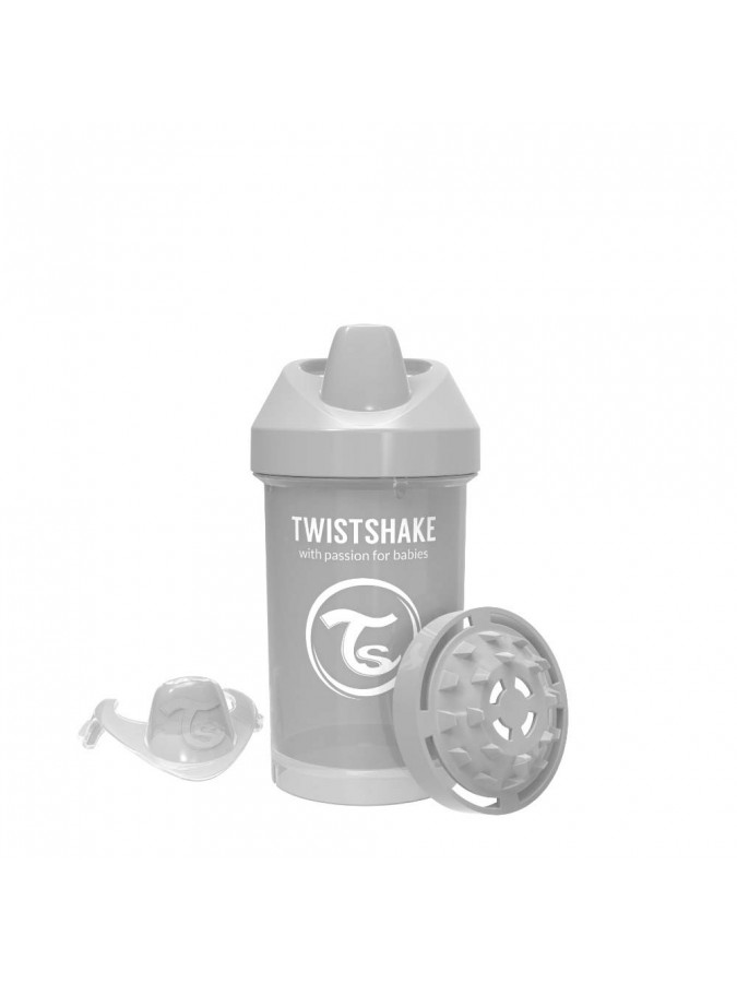 Twistshake kubek niekapek z mikserem do owoców 300 ml szary