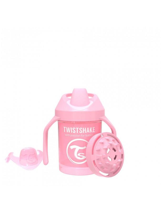 Twistshake kubek niekapek z uchwytami i z mikserem do owoców 230 ml pastelowy różowy