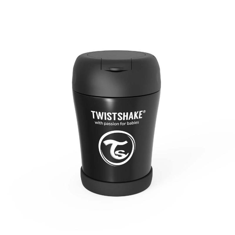 Twistshake pojemnik termiczny na jedzenie 350 ml czarny