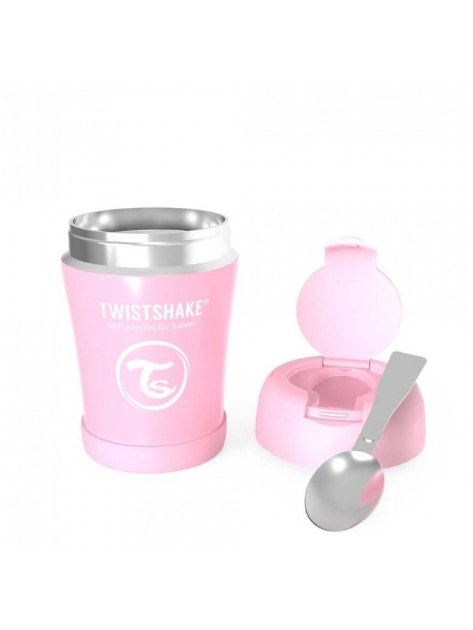 Twistshake pojemnik termiczny na jedzenie 350 ml różowy
