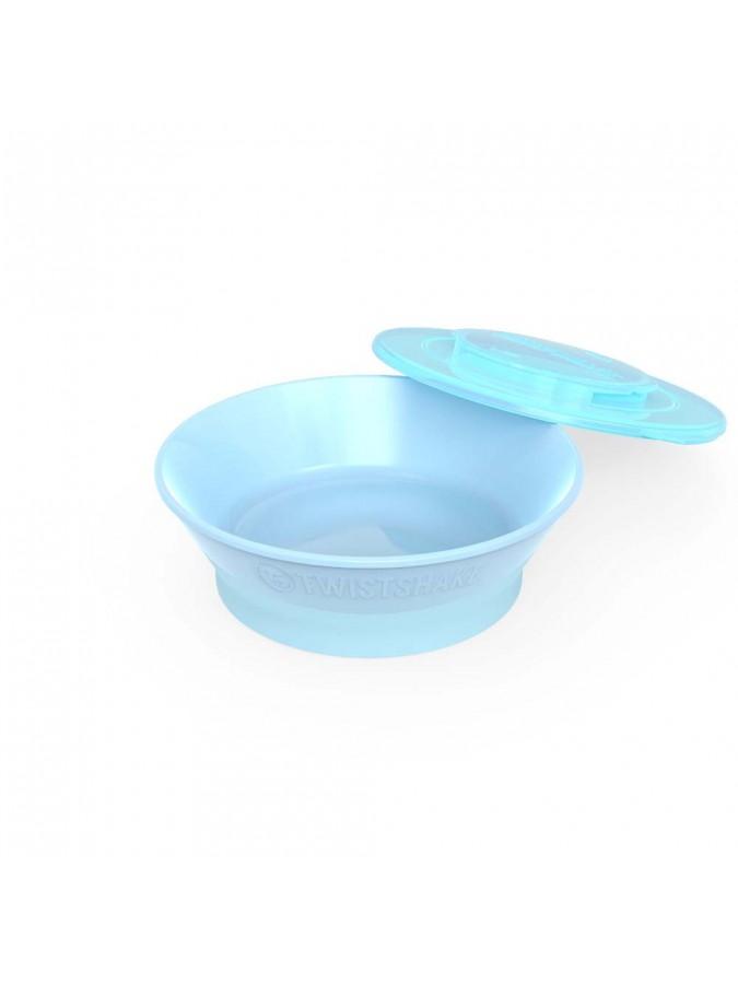 Twistshake miseczka z pokrywką niebieska