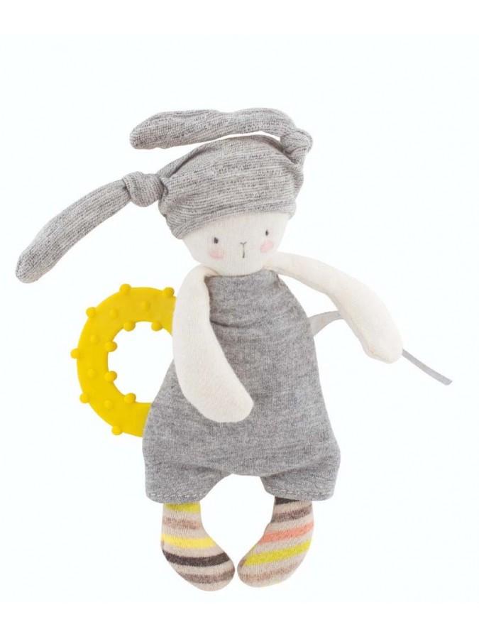 Moulin Roty przytulanka królik z gryzakiem