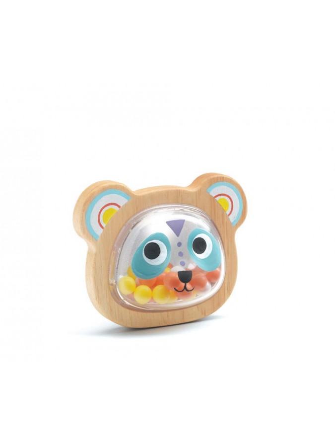 Djeco drewniana grzechotka Babypandi