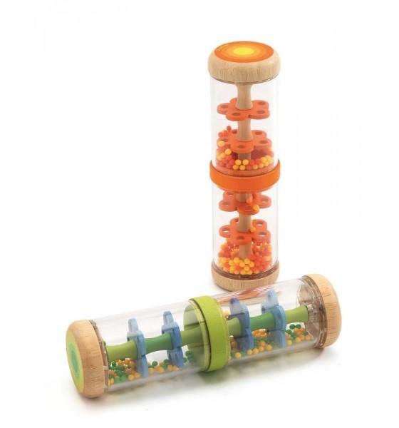Djeco drewniana grzechotka Shaker z kulkami pomarańczowy