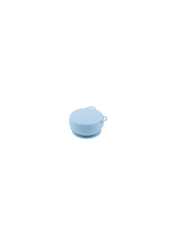MINIKOIOI miseczka silikonowa z pokrywką niebieska